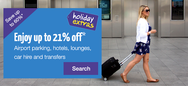 Holiday Extras up to 21 Percent Off