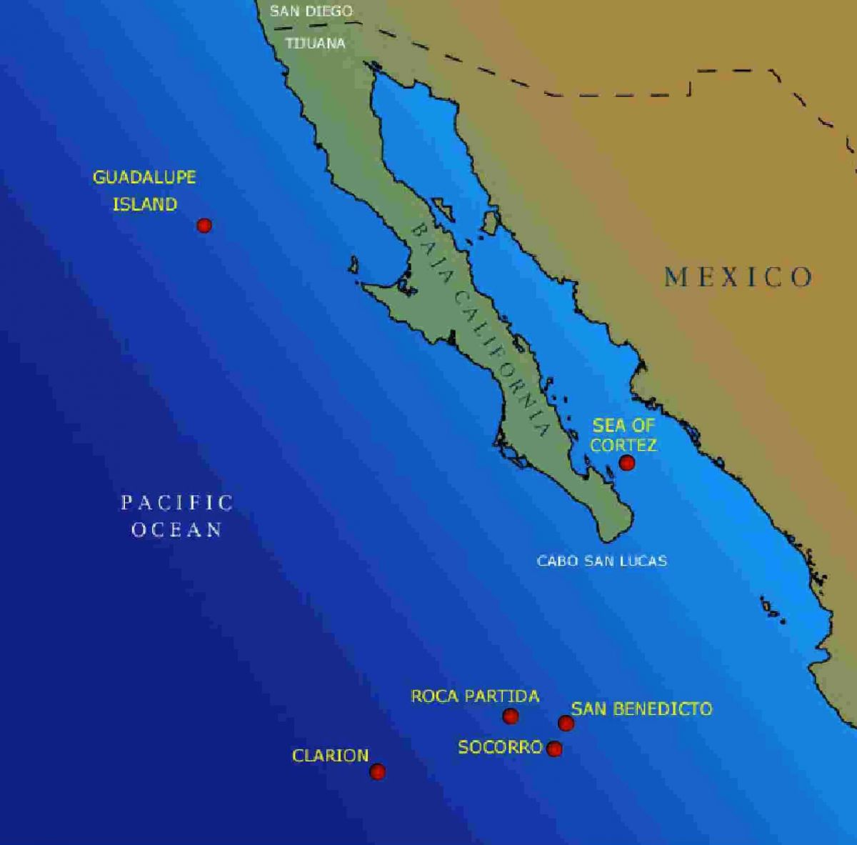 Socorro Islands Map
