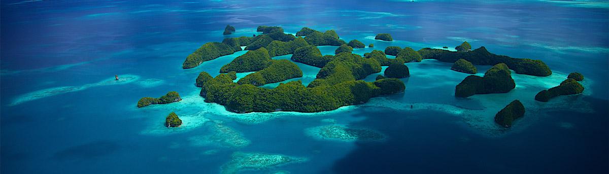 Aerial of Palau. Image by Aggressor Fleet