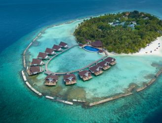 Aerial shot of Elaidhoo Maldives by Cinnamon resort