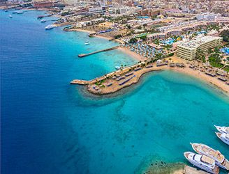 Aerial of Hurghada in the Red Sea
