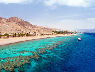 Coastline and coral reef in Egypt