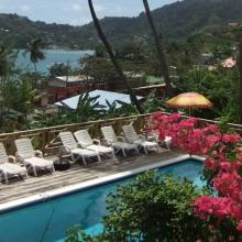 Caribbean view from Nabucco's Resort Speyside Inn