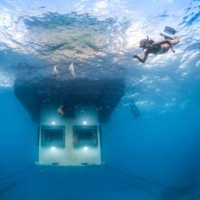 Underwater Room courtesy of Jesper Anhede, The Manta Resort